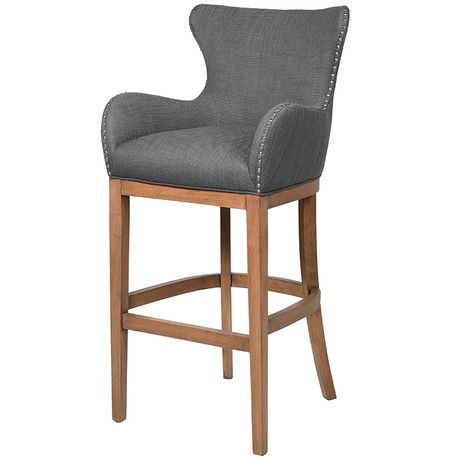 bar stool in dark grey with ring detail