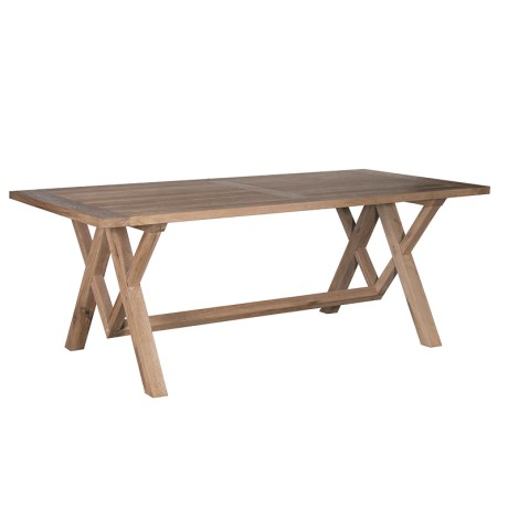 Diamond Leg Oak Table