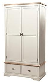 Francis Two Door/Two Drawer Painted Wardrobe