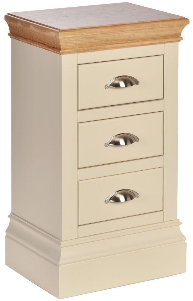 Linton Compact painted 3 drawer bedside