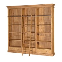 Manhattan Oak bookcase with ladder