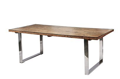 Sleeper Dining Table with Glass Top